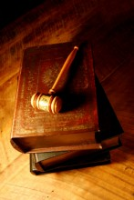old books gavel