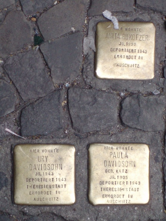 Stolpersteine, Berlin. Image courtesy of Mary Fulbrook.