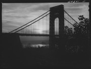 """""""George Washington Bridge. New York City."""" By Arthur Rothstein, 1941.  Part of the Farm Security Administration - Office of War Information Photograph Collection at The Library of Congress."""