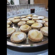 Mince pies in the OUP Oxford Fairway for the choir singing.