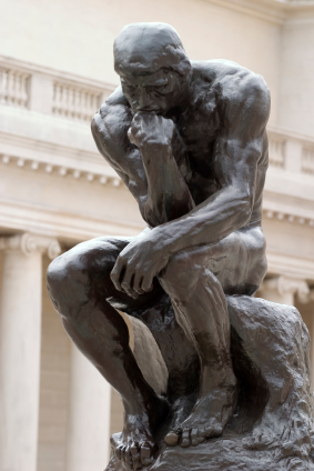 Rodin's Thinker full body