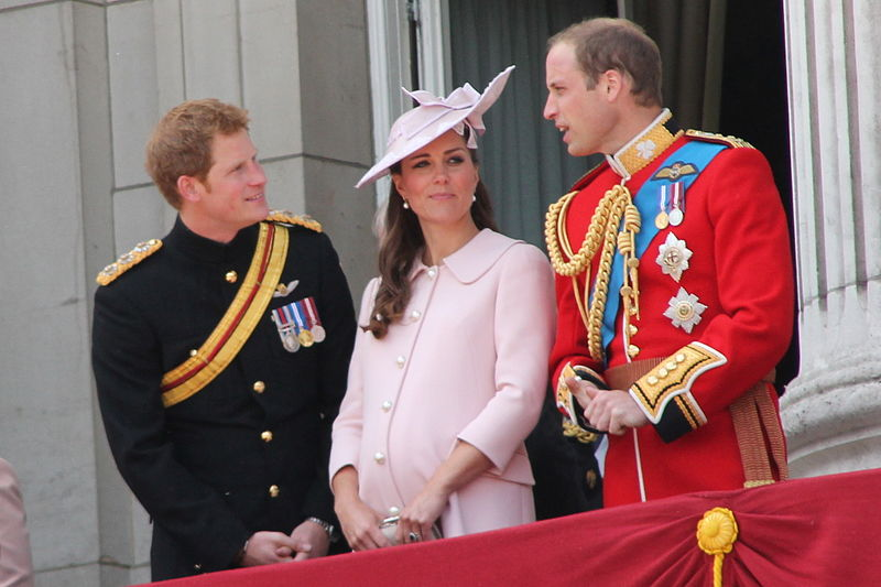 Duke and Duchess of Cambridge and Prince Harry at Trouping the Colour Ceremony