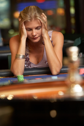woman gambling