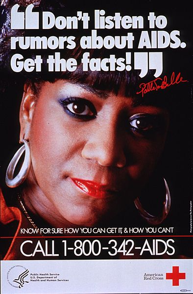 AIDS flyer Patti LaBelle