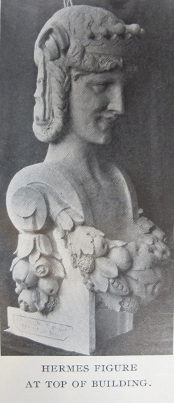 Rooftop busts from The Brickbuilder, Vol. XXI, No. 3, March, 1912.