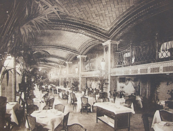 Lobby of the Vanderbilt Hotel, from Architecture, Vol. XXVI, No. 2, February, 1912.
