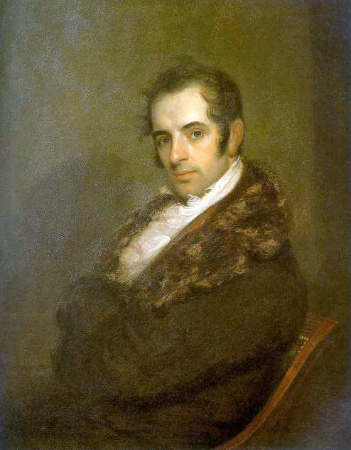 Portrait of Washington Irving by John Wesley Jarvis , 1809. Historic Hudson Valley. Public domain via Wikimedia Commons.
