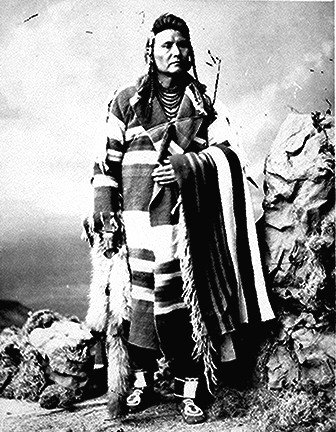 Joseph (Hinmaton-Yalatkit), Nez Perce'chief; full- length, standing.
