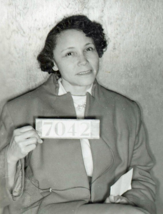 Jo Ann Robinson booking photo. Photo Courtesy of the Encyclopedia of Alabama.