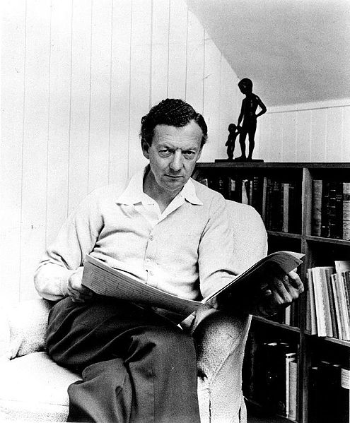 Publicity photograph of British composer Benjamin Britten