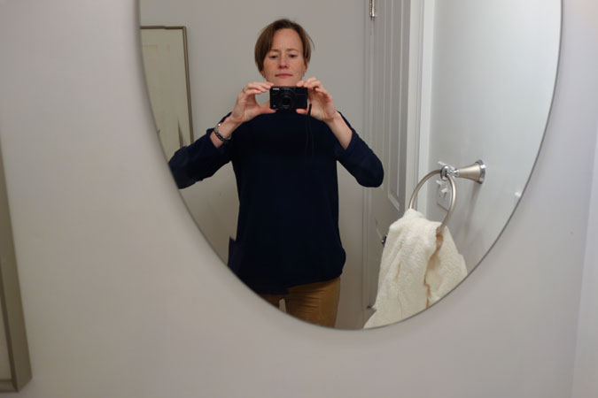 Melissa Mohr takes a selfie. Image courtesy of the author.