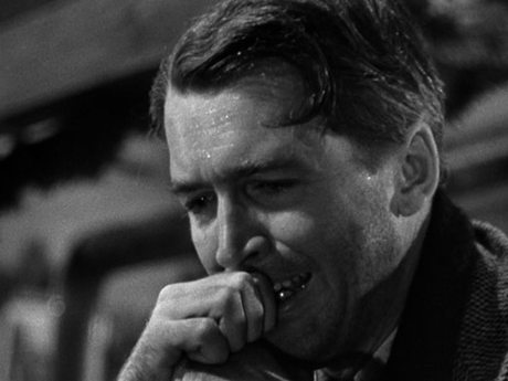 Jimmy Stewart in 'It's a Wonderful Life' (c. Liberty Films II, 1946)