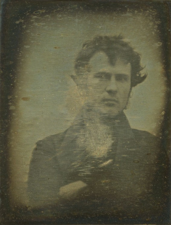 Robert Cornelius, self-portrait, 1839. Library of Congress Prints and Photographs Division
