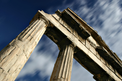 time passing columns athens