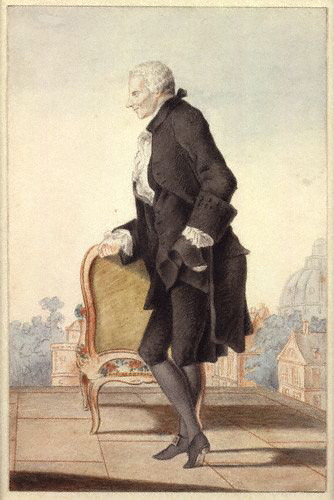 Laurence Sterne by Louis Carrogis Carmontelle (c. 1762). [Wikimedia Commons]