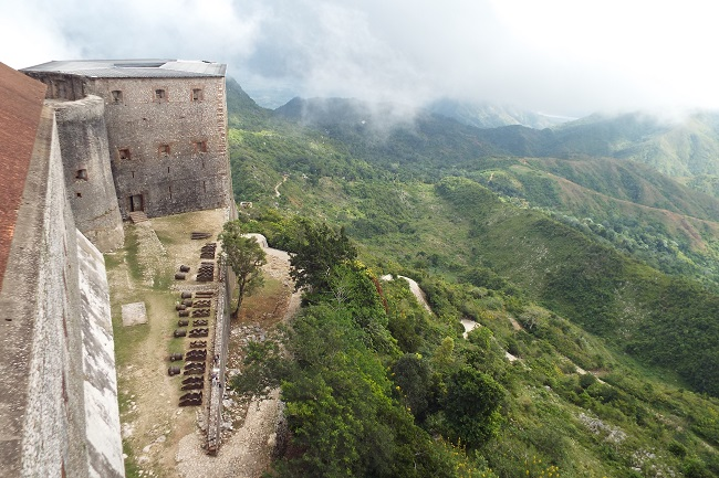 Figure 2: The Citadelle, built after 1804 by Henry Christophe, was meant to deter a French invasion. Photograph by (c) Philippe Girard.