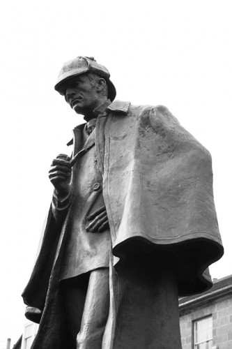 The Edinburgh Statue of Sherlock Holmes. Siddharth Krish CC-BY-SA 3.0 Wikimedia.