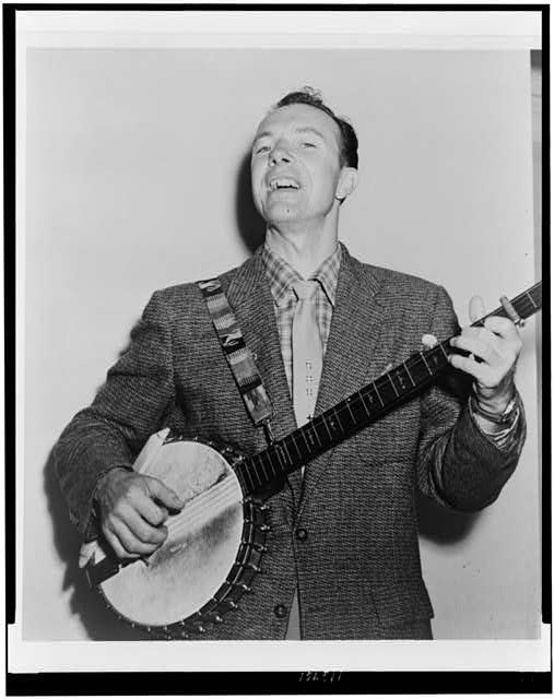 Pete Seeger, 1955.  Photograph by Fred Palumbo.  Image courtesy of The Library of Congress.
