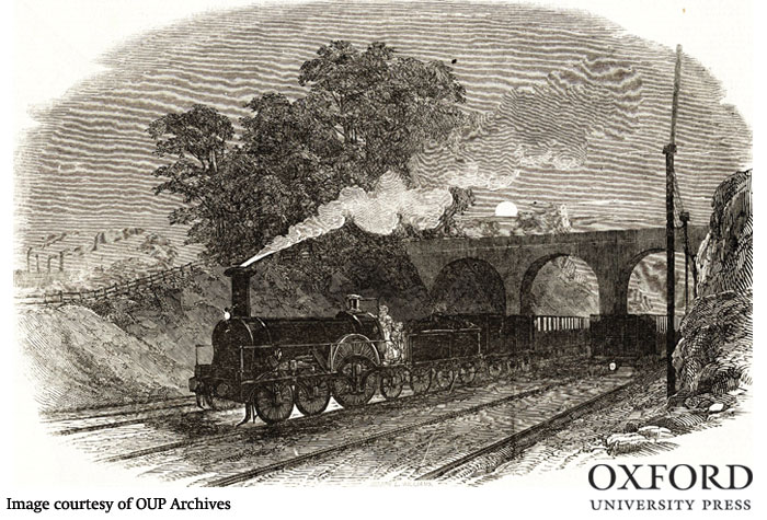 The Great Western Railway and the telegraph in 1849 (Illustrated London News, January 1849). From the History of Oxford University Press