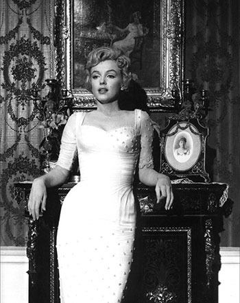 Marilyn Monroe, The Prince and the Showgirl. Public Domain via Wikimedia Commons.