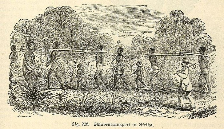 Picture of slaves being transported from Africa