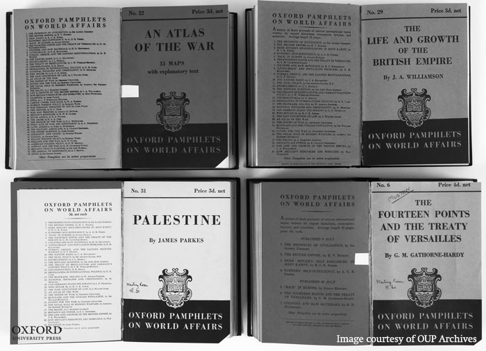 Oxford Pamphlets on World Affairs. From the History of Oxford University Press.