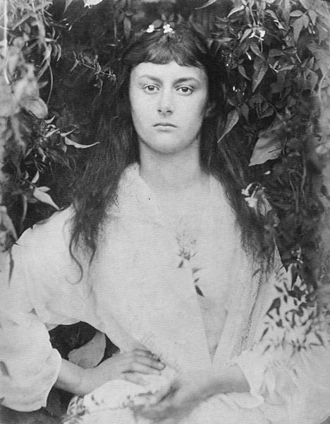 "Julia Margaret Cameron: Photographic study ""Pomona"" (Alice Liddell as a young woman). 1872. Public domain via Wikimedia Commons."
