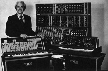 Robert Moog and his synthesizer