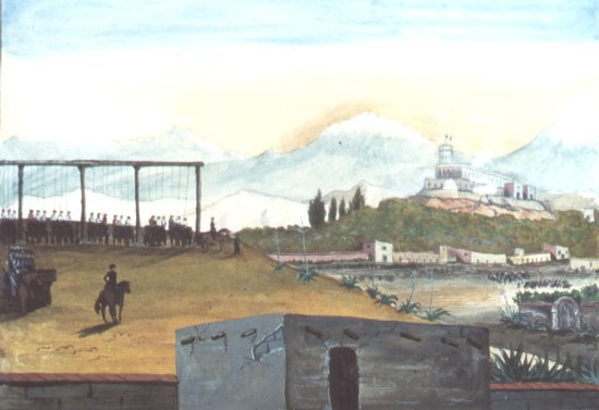 Image of the hanging of the San Patricios