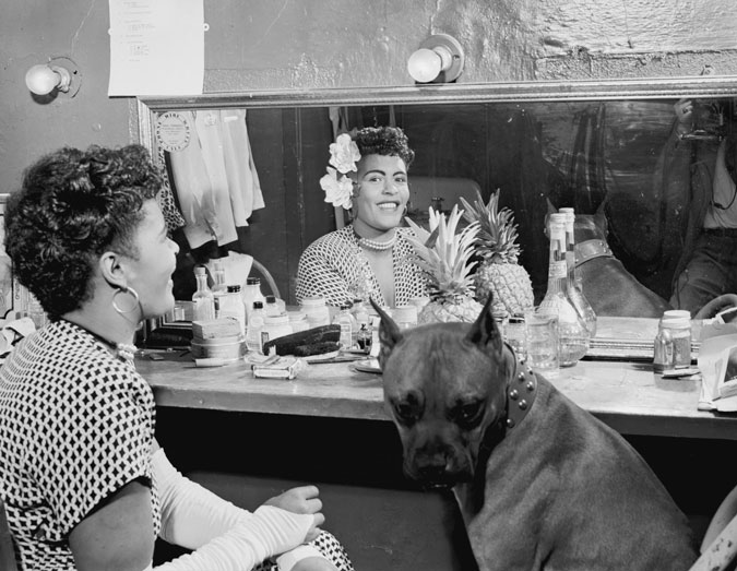 Portrait of Billie Holiday, Downbeat(?), New York, N.Y., ca. June 1946. via Library of Congress.