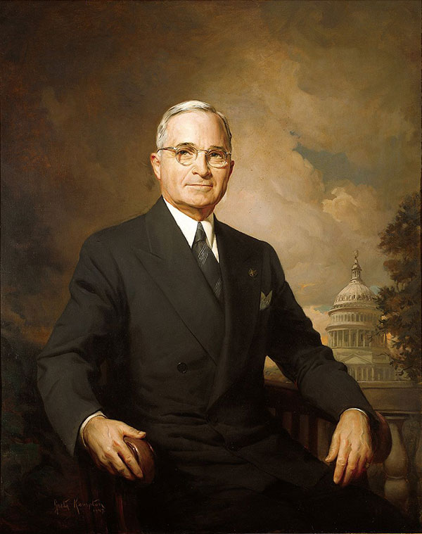 Official portrait of Harry Truman by Greta Kempton