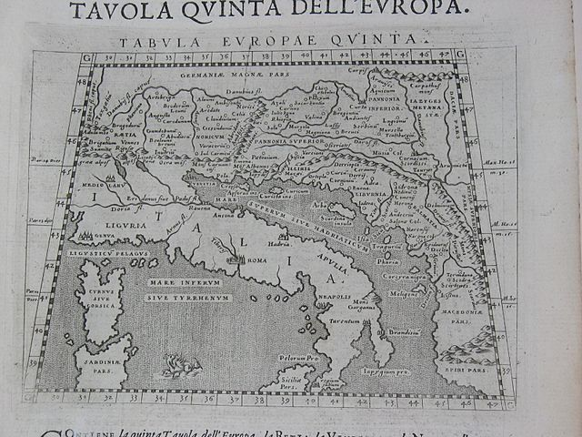 By Ptolemaic maps by Girolamo Porro, Venice, 1598. Public domain via Wikimedia Commons