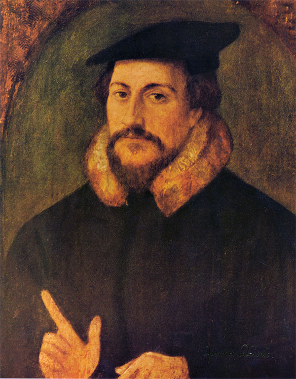 John Calvin by Hans Holbein the Younger. Public domain via Wikimedia Commons.