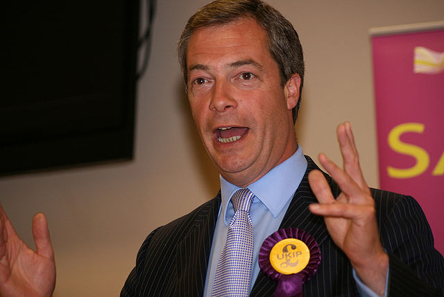 Nigel Farage. Photo by Euro Realist Newsletter. CC BY 2.0 via Euro Realist Newsletter Flickr.