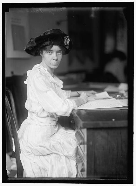 Alice Paul. Harris & Ewing, Library of Congress.