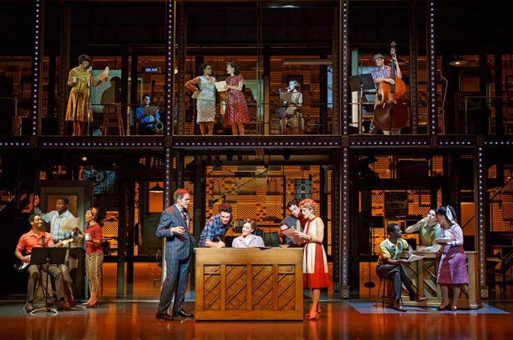The cast of Beautiful: The Carole King Musical, nominated for Best Musical, photo by Joan Marcus, via BeautifulonBroadway.com