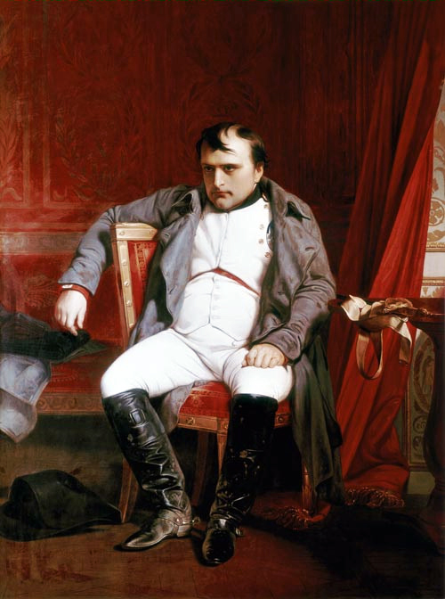 Napoleon, by Paul Delaroche. Public domain via Wikimedia Commons