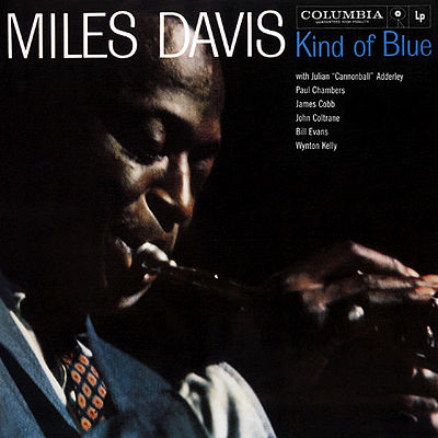 Cover art for Kind of Blue by the artist Miles Davis (c) Columbia Records
