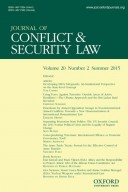 Journal of Conflict and Security Law