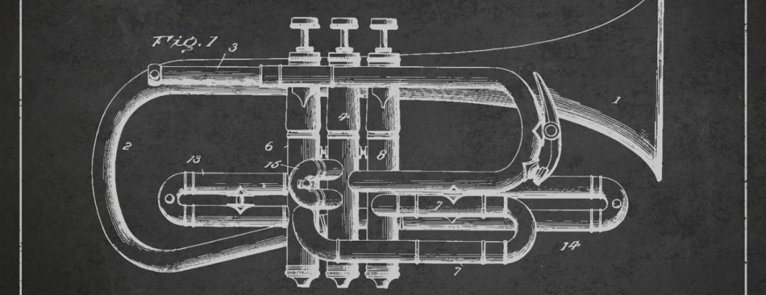 Cornet Patent Drawing from 1901