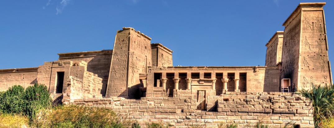 The Temple of Isis from Philae island, Nubia. Photo by Naguibco, CC BY-SA 3.0 via Wikimedia Commons.