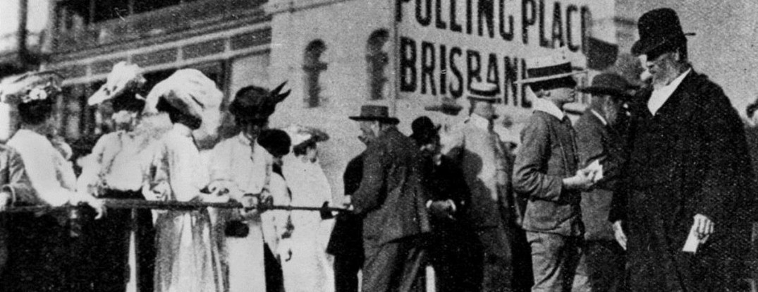 Women Vote for the First Time in Queensland