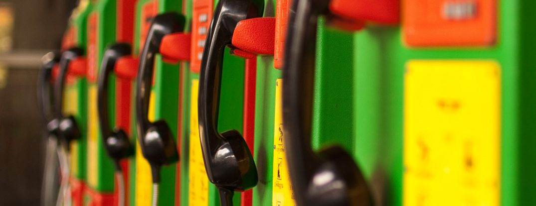 """Colorful Telephones"". By Mark Fischer.  CC by 2.0 via Flickr"