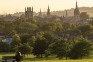 View of Oxford city from South Park, east Oxford. Photo by Kamyar Adl. CC BY 2.0 via Flickr.