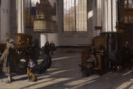 Interior of the Oude kerk in Amsterdam (south nave)  *oil on canvas  *102 x 120  cm  *signed b.r.: E DeWitte Aº 1661